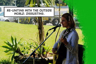 Meri Amber Performs at the Bulli Foragers Markets Nature