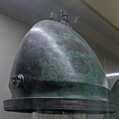 Bronze Negau-type helmet from the Tomb of the Warrior, Osteria Necropolis, Vulci