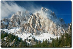 Mountain Face (our cultural archive) Tags: winter italy unescoworldheritagesite dolomites winterlandscape mountainpeak dolomitemountains limestonemountains italiandolomites carboniterock