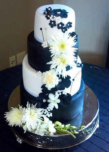 """Black and white wedding cake. • <a style=""""font-size:0.8em;"""" href=""""http://www.flickr.com/photos/50891271@N03/16161407858/"""" target=""""_blank"""">View on Flickr</a>"""