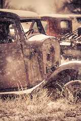 Snowed In (Chains of Pace) Tags: winter snow storm classic abandoned oklahoma car sony western panhandle guymon