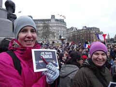 Trafalgar Square, 11 January (Julie70 Joyoflife) Tags: uk portrait london portraits unity trafalgarsquare londres bluehour franais manif 2014 londoners photojuliekertesz londoncenter jesuisjuif jesuischarlie jesuispolicier wearefrench