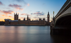 Parliament Rush (Olly Plumstead) Tags: houses sunset blur london thames canon landscape big soft long exposure cityscape mark parliament blurred ii lee rush 5d olly stopper plumstead 5d2