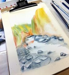 WIP 1.17.15 River (Howard TJ) Tags: columbus ohio color art water work watercolor painting artwork columbusohio dibujo ccac 614 pickrington 614artists