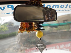 Inside Mirror India Lucky Charm Rckspiegel Talisman (hn.) Tags: copyright india car asia asien heiconeumeyer indian north rearviewmirror mojo indien rajasthan udaipur talisman southasia glcksbringer copyrighted 2014 luckycharm in rckspiegel northindia indisch interiormirror nordindien sdasien insidemirror tp201415