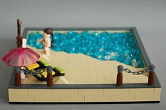 Leia's day at the beach (5) (adde51) Tags: beach star starwars funny day lego sunny wars vignette snot leia moc vig adde51
