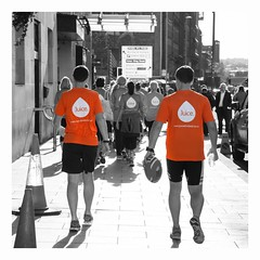 Walking to bootcamp at the UHR Conference 2015 (GaryButterfield) Tags: uk england orange color colour bright juice yorkshire leeds health human conference hr highlight resources uhr wellbeing