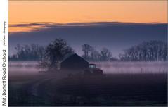 Mist, Bartlett Road Orchard (jwvraets) Tags: mist sunrise dawn nikon gimp orchard lakeontario opensource beamsville nikkor70300mmvr d7100 rawtherapee bartlettroad