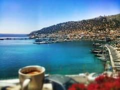 drinking coffee with veiw ~ Greece ~ Kalymnos (M Lamprinos) Tags: coffee port boats island greek harbor sunny greece kalymnos