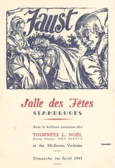 FAUST, STAMBRUGES, 1945 (Operabilia) Tags: opra programme faust monnaie stambruges baryton gounod tnor thtreroyaldelamonnaie georgesvillier claudepascalperna renlits londubressy