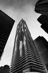 Aqua Tower (Muhammad Al-Qatam) Tags: chicago tower water skyline architecture skyscraper blackwhite illinois nikon aqua d810 alqatam malqatam muhammadalqatam