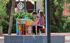 Street Pianos - Mesa Arizona - 7220 (AZDew) Tags: public outdoor painted pianos randompeople mesaartscenter streetpianos2016