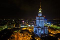 Warsaw, Poland  /explore (Pawelus) Tags: city travel night cityscape poland polska citylights warsaw warszawa lapinski