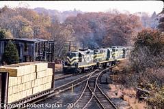 236, Willimantic, CT, 10-1984 (Rkap10) Tags: railroad other connecticut places albums centralvermont railroadslidescans