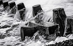 Flow (tom ballard2009) Tags: sea seascape water sussex mono blackwhite waves seashore groyne