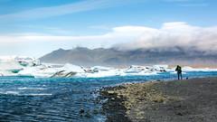 Photographer at Jokulsarlon (Matt McLean) Tags: ice landscape iceland photographer glacier shore jokulsarlon vatnajkull