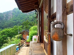 ,      An old Wooden Gong Loudly Silent with Noticeably Hidden Scenery (Dongmin Goh) Tags: wooden mt hermitage gong gyeongju namsan     chilbulam  moktak