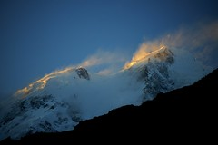 DSC 2417   Last rays. (najeebmahmud) Tags: blue pakistan light sunset summer sky snow mountains nature clouds wow landscape nikon asia glow bluesky karakoram nikkor hunza d800 nikkor70200mm nikond800