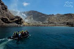 Boat to the volcano (Miss Basil85) Tags: travel newzealand tourism landscape island volcano boat nikon adventure nz northisland volcanic whiteisland d3200