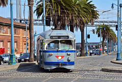 MUNI F Line #1070 (Jim Strain) Tags: jmstrain train trolley streetcar muni tram sanfrancisco pcc railway california
