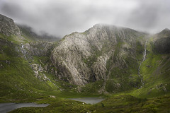 Llyn Idwal (manphibian) Tags: mist mountains art misty fog wales clouds waterfall sony north cymru foggy sigma snowdonia 24105 llyn idwal sonya7