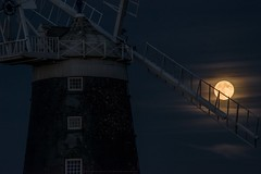 Summer solstice strawberry moon - Burnham Overy mill in Norfolk (UK) (Gary Pearson Photography) Tags: summer moon mill strawberry norfolk solstice burnham staithe 2016 overy