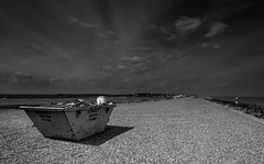 One mans rubbish is another man's treasure (Susie Potter) Tags: sea beach water clouds skip aldeburgh