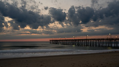 _DSC1490 (chriswheatley97) Tags: obx outer banks north carolina nags head fishing pier morning sunrise ocean beach sand clouds sun