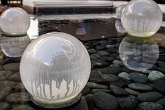 White dome lighting covers (Victor Wong (sfe-co2)) Tags: light white glass modern garden landscape design pond view place outdoor object space warmth peaceful atmosphere calm cover dome concept stylish