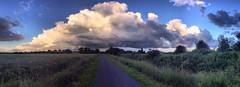 Cloud over town (andystones64) Tags: uk sky nature weather skyline clouds evening image panoramic lincolnshire cloudscape scunthorpe iphone imagecapture imagetrail nlincs iphoneography iphone6