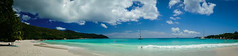 Anse Lazio Panorama (23 von 1) (Mad_Murphy_Photography) Tags: sky panorama color beach clouds strand anne colorful seychelles seychellen