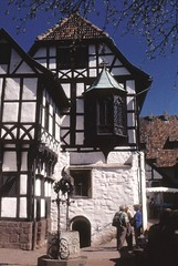 Wartburg Germany (Seleusleaf) Tags: houses castle fountain tile courtyard roofs half ornate timbered