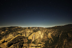 Glacier Point facing Upper and Lower Yosemite Falls (bb8ller) Tags: life park trees light wild fall water rock night painting point rocks long exposure time hiking space hike falls glacier upper national astrophotography yosemite astronomy miles lower outer tre constellations 48 wilds