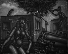 Trailer Park Trash (Tom McKee / Art Guy) Tags: art pencil ink dark drawing surrealism surrealist narrative lowbrow visionary prisma visionaryart apocalypic narrativeart artvisionary