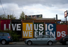 Live Music Weekends (imartin92) Tags: seattle sign washington painted advertisement ballard