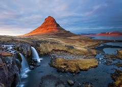 Kirkjufell - Iceland (Explore) (Twogiantscoops) Tags: longexposure light sunset sky painterly ice nature photoshop canon landscape golden evening coast iceland colours creative explore lee 5d filters kirkjufell levels manfrotto luminosity britishheartfoundation organdonor cpfilter churchmountain leefilters 5dmk2 lephotography iplymouth twogiantscoops areyouanorgandonor