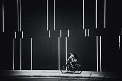the power of simplicity (Sandy...J) Tags: nikon light licht lines linien germany deutschland city blackwhite bw black bavarian bike bicycle monochrom man mono mann white wall wand architektur alone architecture allein urban fotografie fahrrad facade fassade photography street sw schwarzweis strasenfotografie stadt strase