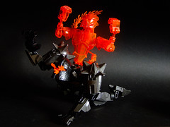 Soul Immolation (Djokson) Tags: dark magic ritual fire flames soul burning knight armor spirit djokson lego moc