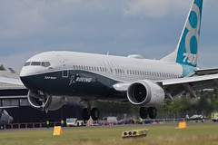 Boeing 787Max-8 (nxgphotos) Tags: test prototype boeing fia farnborough airliner 2016 boeing737max8 cfmleap n8704q