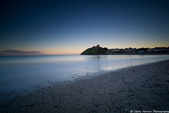 (Claire Hutton) Tags: criccieth llynpeninsula northwales wales cymru uk sunset light sea beach water stones sand blue twilight coast sonya6000 1018mm wideangle lens ndgrad leefilters srb 10stop 10stopper ndfilter