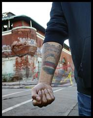 Paterson Armory, 1 (Ebanator) Tags: patersonarmory tatoo patersonnj paterson sonya850 minoltamaxxumaf2035mmf3535 maxxumaf2035mm streetphotography candid urban patersonnewjersey newjersey newjerseynationalguard