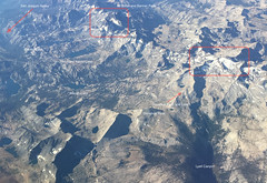 Ritter Range, Lakes, Donahue Pass and Lake, Lyell (Annotated) (deanwampler) Tags: sierras jmt johnmuirtrail yosemitenp anseladamswilderness thousandislandlake lyellcanyon