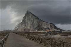 The Rock Of Gibraltar.(UK) (David Gilson) Tags: therock gibraltar british limestone uk clouds cloudy levanter fuji fujifilm xe2s xseries