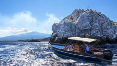 Tour in barca a Isola Bella (Marco Crupi Visual Artist) Tags: sicilia siciliano sicily mare sea landscape landscapes paesaggio paesaggi sky cielo fotografia lumixtz100 lumix tz100 panasonic taormina isolabella