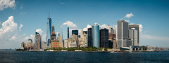 Manhattan Skyline (SteveJamesPhotography) Tags: new york manhattan skyline outdoor architecture city waterfront water building complex nyc night nightshot hudson river one world trade center empire state lights liberty park jersey financial district south sunset canon5dmk3 canon 24105mm