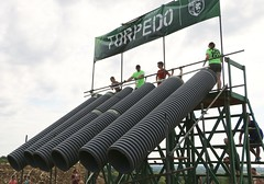 Torpedo- the final obstacle (OakleyOriginals) Tags: conquerthegauntlet race obstacles torpedo wallsoffury stairwaytoheaven cliffhanger tulsa ok august 2016 challenge strength fitness competitive medals