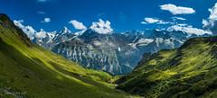 Panorama Eiger, Mnch, Jungfrau depuis la Schilttal (Switzerland) (christian.rey) Tags: schilttal mrren schilthorn panorama alpes alpen oberland berner bernois berne eiger mnch jungfrau sony alpha 77 1650