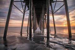 Symmetry (KrissyM_77) Tags: landscape sunset ocean pacific longexposure bigstopper oceanside california coast pier lowtide waves wave nd10 10stop socal