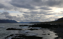 finn morgunn (h) Tags: arnarfjrur selrdalur barastrandarssla sea landscape coast surf waves clouds iceland september 2016