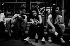 Youth Culture (stimpsonjake) Tags: nikoncoolpixa 185mm streetphotography bucharest romania city candid blackandwhite bw monochrome youth culture young teenagers adolescents